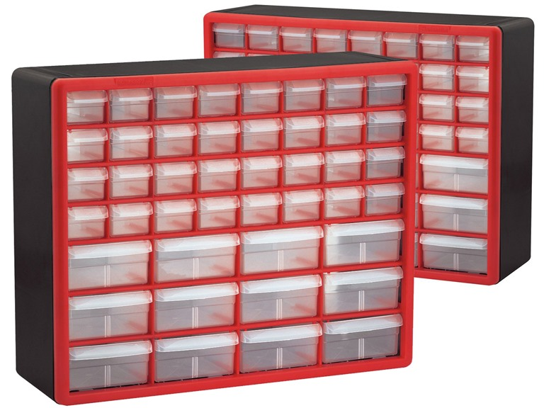 44-Drawer Hardware & Craft Cabinets 2-Pack