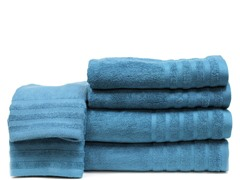 Rayon From Bamboo 6pc Towels-Blue