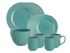 Whitaker 16-Piece Dinner Set Aqua