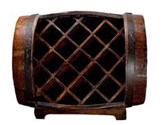 Vintage Half-Barrel Wine Holder
