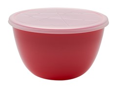 Red 2 Quart Serving Bowl with Lid