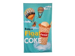 Coke® Float 40x70 Beach Towel