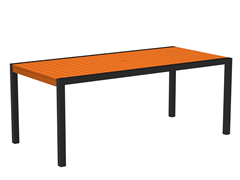 MOD Dining Table, Black/Tangerine