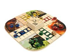 WWF Zoo Animals Wood Board Game Ludo