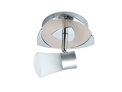 1-Light Satin Ceiling Mount, Frosted