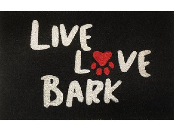 outdoor mat live love bark