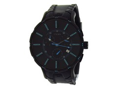 Ion Plated Chrono Black & Blue Sapphires