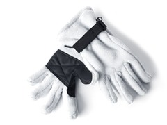 Fleece Gloves for Her - Light Grey