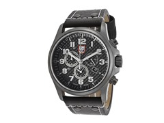Men's Chronograph w/ Black Leather Band
