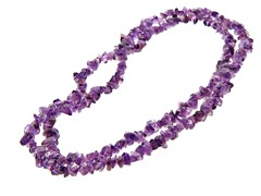 "36"" Endless Amethyst Chip Necklace"