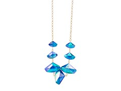 Gold/Blue Statement Necklace