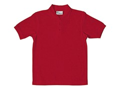 Boys Pique Polo - Red (Sizes XS-L)