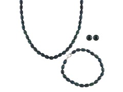 3-Piece Black Freshwater Pearl Set