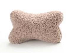 Dog Bone Pillow - Beige