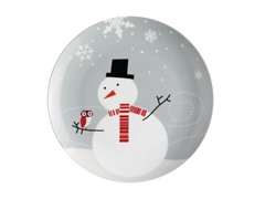 Little Hoot & The Snowman Dessert Plates-4pk