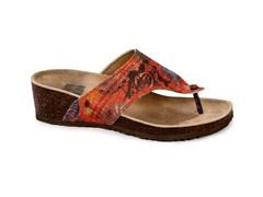 Cara Thong Wedge Sandal, Red
