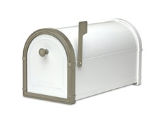 Bellevue Mailbox, White with Bronze