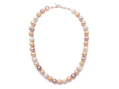 SS PinkMix Freshwater Pearl Necklace