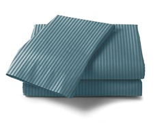 300 Thread Count Cotton Sateen Sheet Set  - Blue