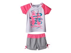 Girls Tee & Short Set - Peace & Dance