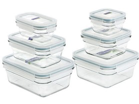 Glasslock 12-Piece Glass Storage Set - Clear