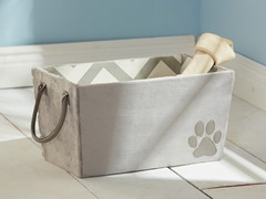 Ultra Plush Storage Tote - Chevron