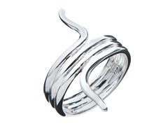 Sterling Silver Snake Twisted Ring