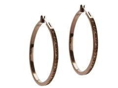 Relic RJ2362200 Brown Crystal Encrusted Hoop Earrings