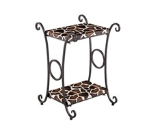 SEI Animal Print Accent Table –  Giraffe