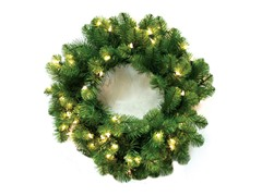 "Nottingham Pine Wreath 24"" Prelit Clear"