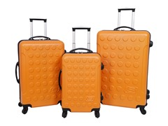 Skechers Cosmos Hardside Luggage Set-Orange