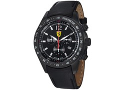 Scuderia Leather, Black / Black
