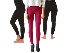 Bottoms Up 3-Pack Fleece Leggings