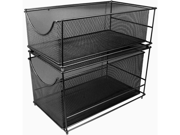 Sorbus Mesh Cabinet Organizer Set With Pull Out Drawers