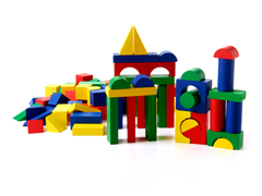 100 Colored Wood Block Set
