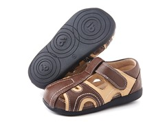 Squeaky Shoe - Alex, Brown/Tan (3-8)