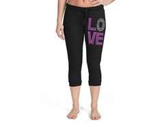 Bottoms Up LOVE French Terry Capri, Black