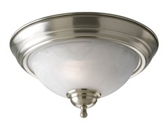 2-Light Close-To-Ceiling, Nickel