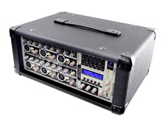 6-Channel 600 Watts Powered Mixer with MP3