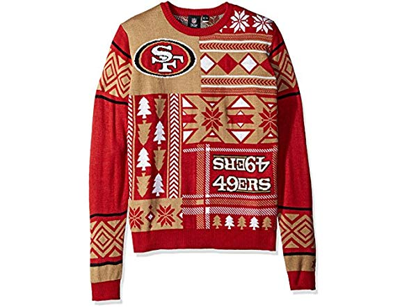 check out c1583 afdd1 FOCO San Francisco 49ers Sweater, 2XL