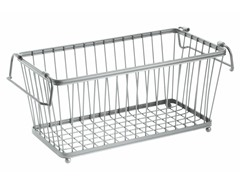 "InterDesign York Silver Lyra 12"" Basket"