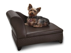 Storage Pet Bed - Basketweave Brown