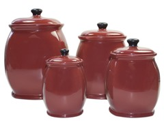 American Atelier Hearthstone Red Canister Set