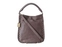 KC Stud Sense Hobo Leather Bag, Dark Sandstone