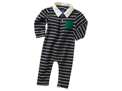 Striped Romper - Blue (3M-12M)