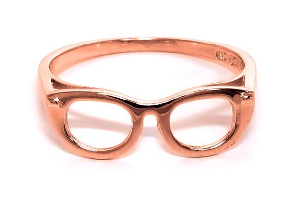 14k Solid Gold Eyeglass Frames : 14K Rose Gold Plated Solid Sterling Silver Geek Chic ...