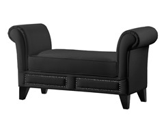 Marsha Scroll Arm Bench - Black