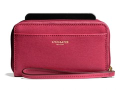 Coach E/W Universal Case Saffiano Leather, Scarlett