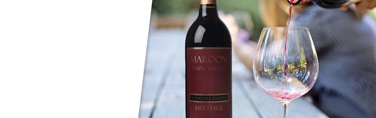 Maroon Napa Signature Reserve Meritage