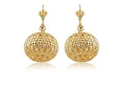 Gold Popcorn Earrings